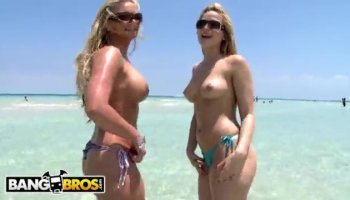 Beautiful tanned girl Katalina Mills takes giant cock sideways