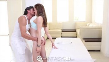 Christie Stevens rides her hot ass on this hard prick