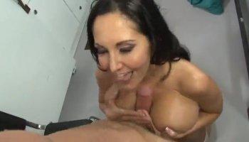 Latina drools all over a big dick